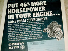 1967 SUPERCHARGER AD - 260/289 v8 engine/Mustang Shelby GT 350/500-Cobra/302/351