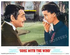 GONE WITH THE WIND LOBBY SCENE CARD # 8 POSTER 1968-R CLARK GABLE VIVIEN LEIGH