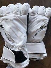 Obermeyer Alpine PerformanceSki Snow Gloves White Black Boys Size Small Teens