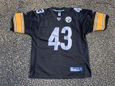 Pittsburgh Steelers Troy Polamalu Jersey Reebok Authentic Size 50 Black