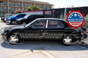 fit:1995-2000 Lexus LS 400 LS400 4Pc Chrome Pillar Post Trim Stainless Door