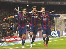 GQ1278 Lionel Messi - MSN Neymar Suarez Barcelona Football 24x36 inches Poster