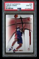 2008-09 SP Authentic LeBron James Retail PSA 10 Gem Mint #58