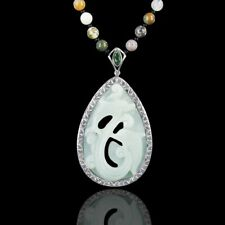 Hand Carved Multi-Color Amazonite Dolphin Necklace DB304010