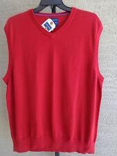 NWT Saddlebred Big & Tall Cotton Knit Sweater Vest   LT Red  $50.msrp