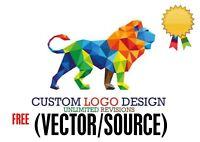PROFESSIONAL CUSTOM LOGO DESIGN + UNLIMITED REVISION + VECTOR FILE