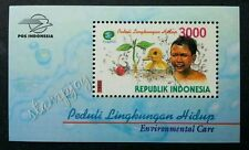 Indonesia Environmental Care 1999 Water Duck Plant Tree Green Bird (ms) MNH