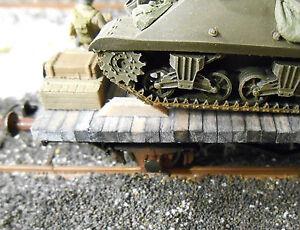 HO Roco Minitanks 20 Vehicle Stop Blocks Kit Tie Brown Weathered  #DP61