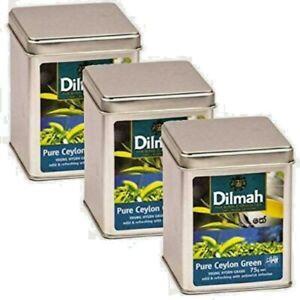 Dilmah  YOUNG HYSON Grade Pure Ceylon Green  Leaf Tea In Metal caddies /狄玛·杨·海森