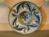 Antico PIATTO Da Appendere Cappello del Prete BOWL Decorato a Mano d 26,50 cm