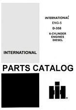 International Farmall D-236 312 466 360 407 429 DT Diesel Engine Parts Manual IH