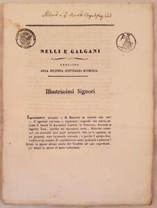 SENTENZA MEMORIA NELLI E GALGANI FIRENZE FLORENCE CESSIONE DI BENI 1832