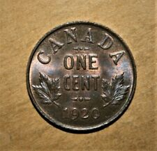Canada 1 Small Cent 1920 Brilliant Uncirculated Coin *** Nice