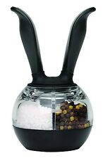 Chef'n Dual Pepper Ball Salt and Pepper Adjustable Grinder / Mill - One Handed