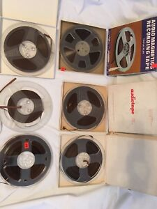 """Lot of 6 REEL TO REEL TAPES Vintage Used UNTESTED 7"""""""
