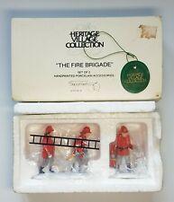 The Fire Brigade Heritage Village Brigade Porcelain Accessories #5546-B Nib!