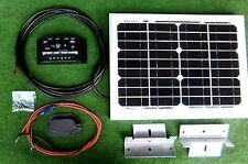 Panel Solar De 10w de 10 vatios + Kit de montaje TRAJE CAMPER CAMIONETA AUTOCARAVANA VW CAMPER Cobertizo