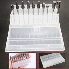 10 Pcs Tungsten Carbide Dental Acrylic Bur Drill Coarse Cutter 2.35mm Shank