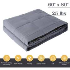 Weighted Blanket 80''x 60'' Full Queen Size Reduce insomnia Stress 25lbs