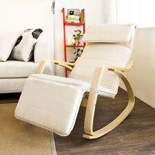 SoBuy® Relax Cushioned Wood Rocking Chair,Cream Black Grey Red FST16/18, UK
