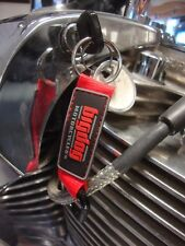 Big Dog Motorcycles Red Carabiner Key Chain 3-D Rubber K-9 Chopper Pitbull Bdm