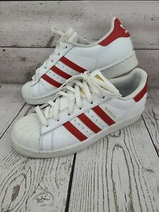 adidas Originals Men's 6 Superstar Athletic Shoes Sneakers Classic Red Stripes