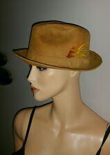 Vintage Cavanagh A Posse Ad Esse New York Suede Brown Fedora Hat Mens 7 1/8
