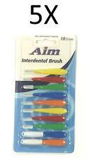 5X 10 Pcs Aim Interdental Brushes Dental Brace Brush Floss Aim / Dr. Fresh