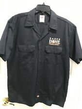 Naked Dove Men's Fingerlakes Craft Brewery Dickies Button Up Black  Shirt L