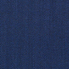 Holland and Sherry Bright Blue Narrow Herringbone All Wool Suiting - 3.50 Mtrs