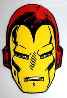 """Giant 10"""" Iron-Man Mask Embroidered Back Patch- Iron On"""