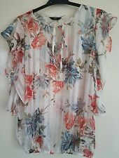 F & F Butterfly Style Floral Top Size 10