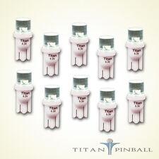 (10 Pack) - 6.3 Volt LED Bulb Flat Top 555 Base (T10) Pinball - WARM WHITE