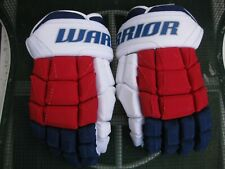 "Near Mint pro stock return Nyr Ny Rangers Warrior Luxe 14N"" gloves Mic Canada"