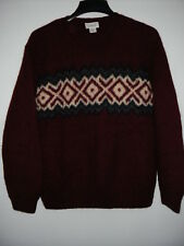 J Crew Hand Knit 100%Wool Crewneck Men's Sweater M