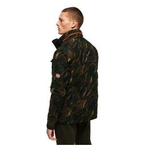 Superdry NEW Men's Classic Rookie Pocket Jacket - Black Camo BNWT