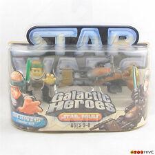 Star Wars Galactic Heroes Jedi Luke Skywalker & Speeder bike - yellowed package