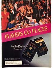 Original 1984 Players Cigarettes Advertisement ~ Full Color Vintage Print Ad