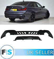 BMW 3 SERIES G20 G21 M PERFORMANCE SPORT GLOSS BLACK REAR DIFFUSER 3 PIECE