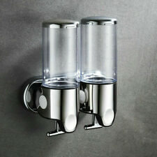 Double Bottle Soap Dispenser Bathroom Wall-mounted Shower Gel Shampoo Container