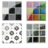 19pcs PVC Waterproof Mosaic Tile Wall Sticker Kitchen Tiles Decals Decor
