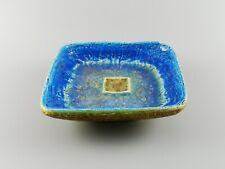 Rare Fused Glass Bitossi Aldo Londi Italian Pottery Small Dish