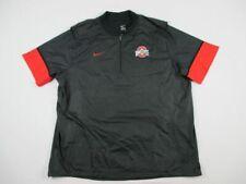 NEW Nike Ohio State Buckeyes - Men's Black Short Sleeve Pullover Pullover (3XL)