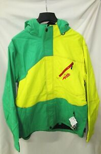 HMK Green/Yellow Hustler 2 Jacket - HM7JHUS2GY2X Size 2XL