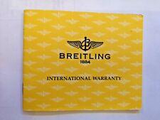 Breitling Chronomat A13352 Guarantee  Booklet