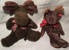 New ListingBoyds Bears Flat Windberg Moose Plush Bears In The Attic Millie LaMoose Retired