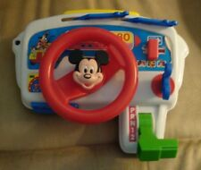 New listing 1980'S Vintage Arco Mickey Mouse Carry Along Toy Car Dashboard Rare