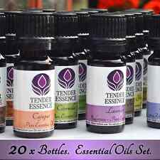 20 x Essential Oils Set. 100% Pure. Full Aromatherapy Kit. 20 x 10ml bottles.