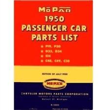 Illustrated MoPar Factory Parts Manual for 1950 Ply - Dodge - DeSoto - Chrysler