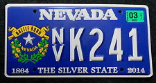 "Nummernschild USA aus Nevada ""BATTLE BORN"" 150 Years Schild. 13390."
